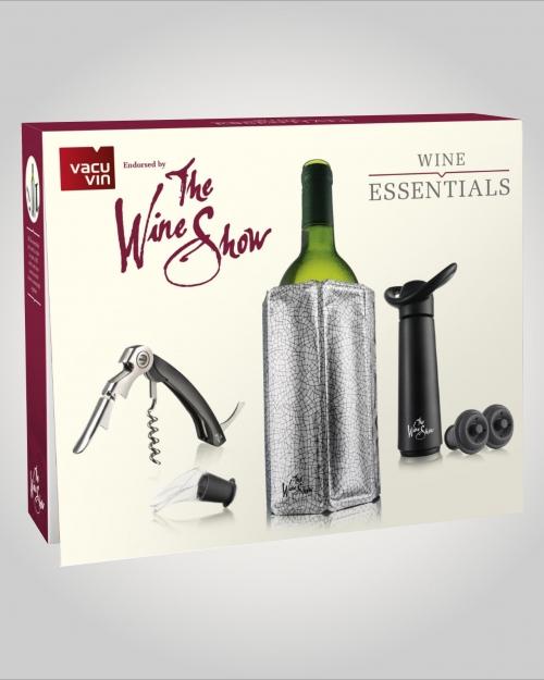 Jogo para vinho The Wine Show com 6 acessorios