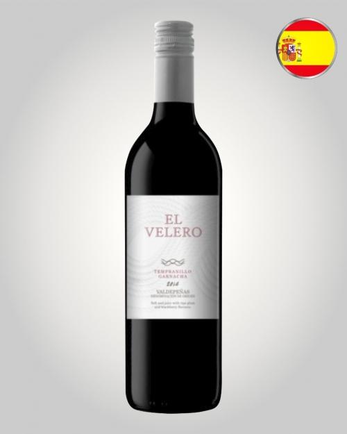 El Velero Tempranillo / Garnacha 2015, Vinho Espanhol, jovem e incrivelmente saboroso